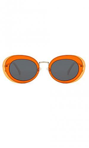 Солнцезащитные очки kandice Komono. Цвет: оранжевый