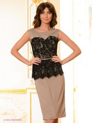 Платье Vaide. Цвет: светло-коричневый