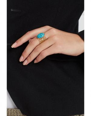 Кольцо IMAI by Julie Borgeaud. Цвет: голубой