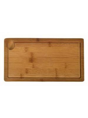 Гринвуд Доска разделочная с выемкой, бамбук, 32x17x2см, H-1912-1 Vetta. Цвет: бежевый