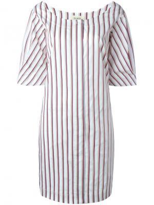 Платье в полоску Isa Arfen. Цвет: белый