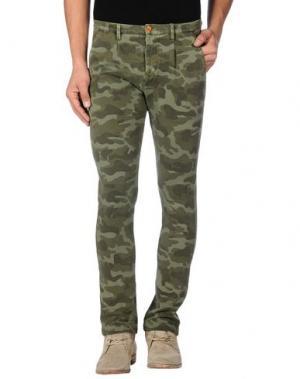 Повседневные брюки FRADI. Цвет: зеленый-милитари
