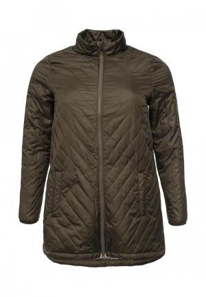 Куртка утепленная Zizzi. Цвет: хаки