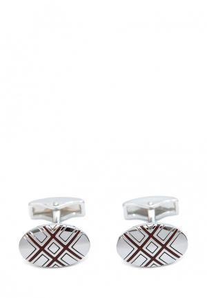 Запонки Churchill accessories. Цвет: серебряный