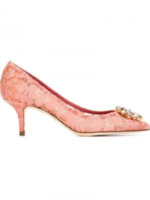 Туфли Belluci Dolce & Gabbana. Цвет: розовый и фиолетовый