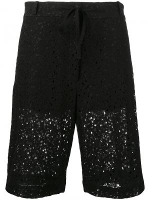 Floral long shorts 6397. Цвет: чёрный