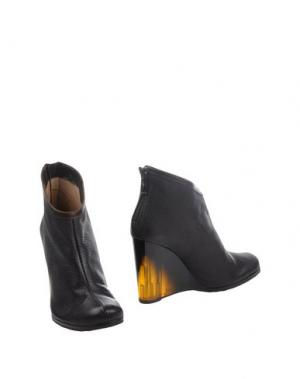 Полусапоги и высокие ботинки REBECA SANVER. Цвет: темно-коричневый