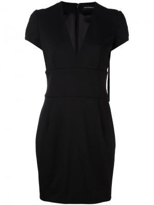 Платье с V-образным вырезом Alexandre Vauthier. Цвет: чёрный