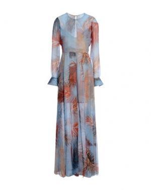 Длинное платье EMILIO PUCCI. Цвет: лазурный