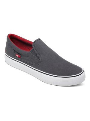 Слипоны DC Shoes. Цвет: серый