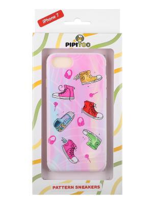 Чехол-накладка Sneakers для iPhone 7 Pipitoo. Цвет: розовый