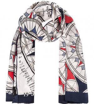 Легкий шарф из шелка FRAAS. Цвет: мультиколор