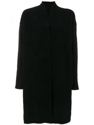 Однобортное пальто Salvatore Santoro. Цвет: чёрный