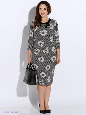 Платье BALSAKO. Цвет: белый, серый