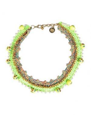 Ожерелье VENESSA ARIZAGA. Цвет: кислотно-зеленый