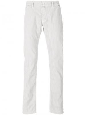 Вельветовые брюки средней посадки Jacob Cohen. Цвет: серый