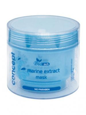Увлаж. и ухаживающая маска д/волос с экстрактом морских водорослей (Marine Extract Mas Concept. Цвет: белый