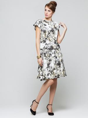 Блузка Elena Shipilova. Цвет: белый, серый