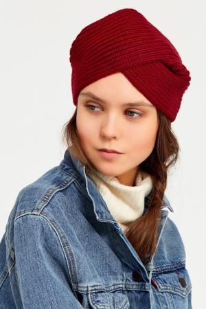 Бордовая повязка на голову Knittedkiss. Цвет: красный