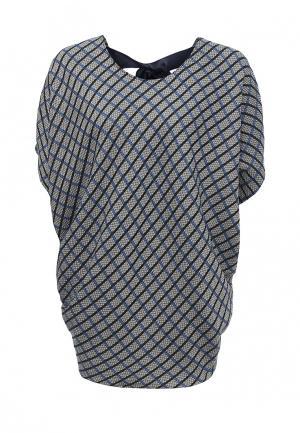 Блуза Uona. Цвет: серый