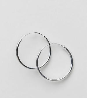 ASOS Серебряные серьги-кольца 20 мм. Цвет: серебряный