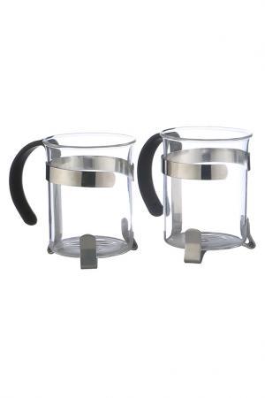 Чайно-кофейный набор Bekker. Цвет: серебро