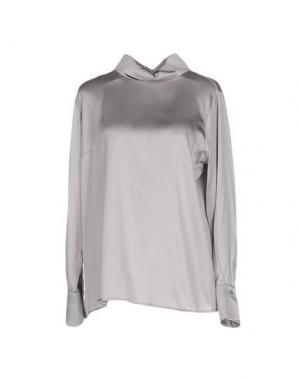 Блузка MADREPERLA. Цвет: светло-серый