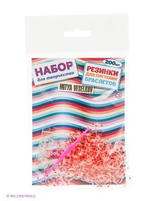 Резиночки для плетения браслетов Mitya Veselkov. Цвет: белый, красный