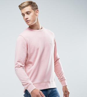 Jack & Jones Свитшот с вышивкой на груди Originals. Цвет: розовый