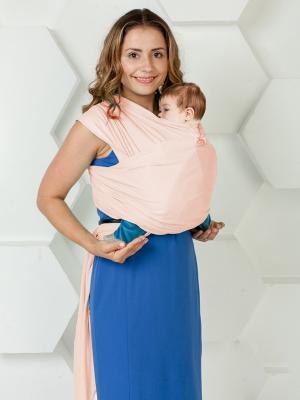 Слинг-шарф трикотажный МАМАРАДА. Цвет: розовый
