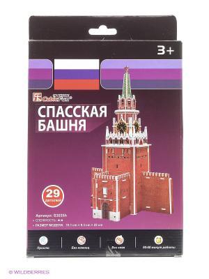 Игрушка Спасская башня (Россия) CubicFun. Цвет: красный