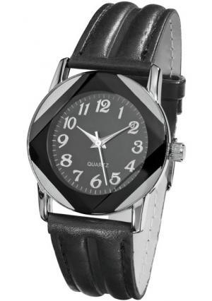 Наручные часы Heine. Цвет: черный/серебристый