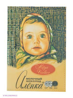 Обложка для паспорта Шоколадка Аленка Mitya Veselkov. Цвет: желтый