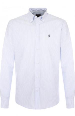 Хлопковая рубашка с воротником button down Bogner. Цвет: голубой
