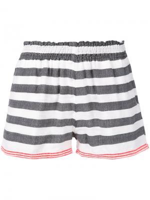 Полосатые шорты Lemlem. Цвет: серый