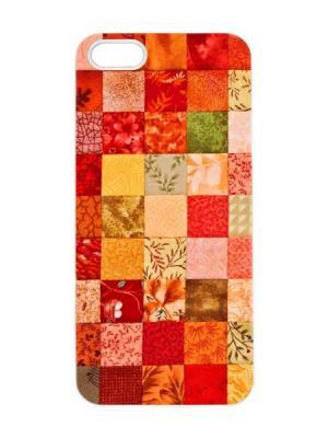 Чехол для iPhone 5/5s Лоскутное одеяло Арт. IP5-089 Chocopony. Цвет: бежевый, оранжевый, темно-бежевый