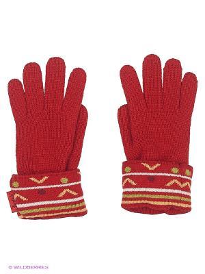 Перчатки Sterntaler. Цвет: красный