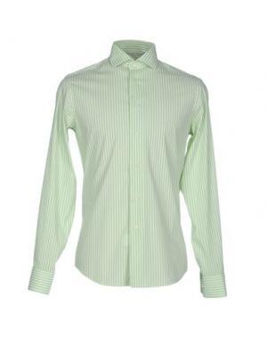 Pубашка ZANETTI. Цвет: светло-зеленый