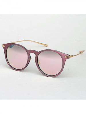 Очки Wood (розовые) Kawaii Factory. Цвет: розовый