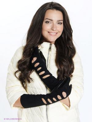 Перчатки Eleganse. Цвет: черный