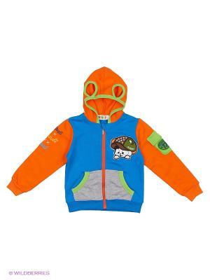 Куртка Kidly. Цвет: синий, оранжевый