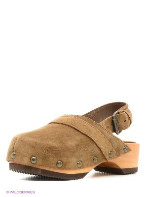Туфли Mango kids. Цвет: коричневый