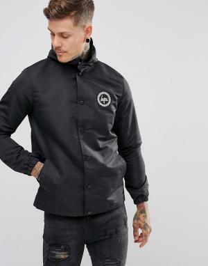 Hype Черная спортивная куртка с капюшоном. Цвет: черный