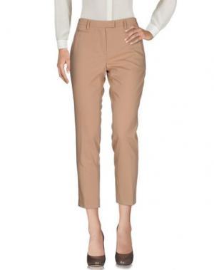 Повседневные брюки TWELVE-T. Цвет: песочный