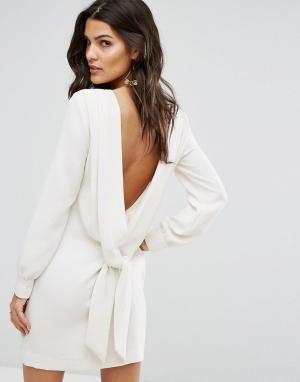 BA&SH Платье А-силуэта с открытой спиной. Цвет: кремовый