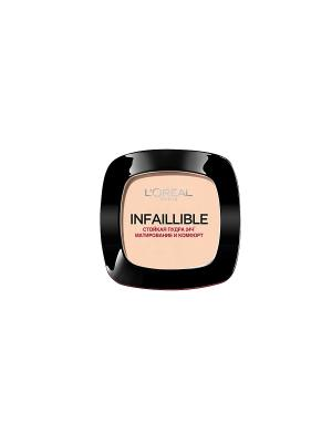 Стойкая матирующая пудра Infaillible 24ч, оттенок 245 Теплый песочный, 9г L'Oreal Paris. Цвет: бежевый