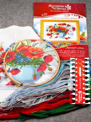Набор для вышивания Аромат лета Матренин Посад. Цвет: коралловый, белый, синий