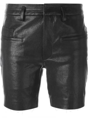 Кожаные шорты Haider Ackermann. Цвет: чёрный