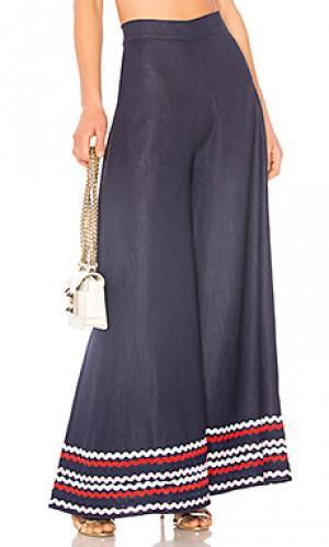 Укороченные брюки Paper London. Цвет: синий