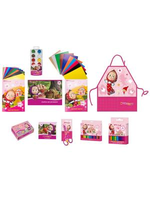 Набор для детского творчества Маша и Медведь 10п. Цвет: розовый, голубой, желтый